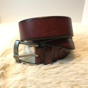 FOSSIL BROWN LEATHER BELT SIZE 38